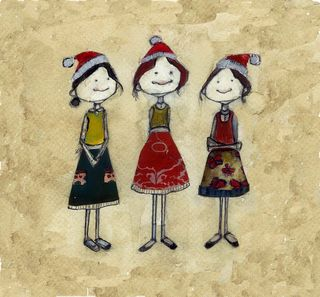 3 aprons holiday cards