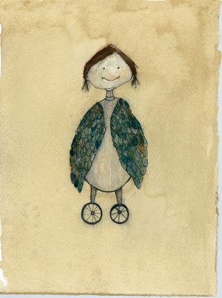 Girl with wings on wheels3