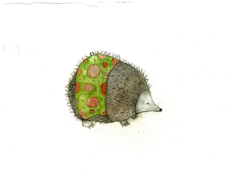 Hedgie with apron